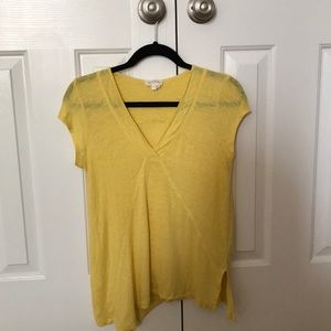 Meadow Rue Yellow Linen shirt